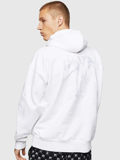 Diesel - S-ALBY-B5, Blanc - Pull Cotton - Image 2