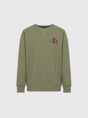 UMLT-WILLY, Vert Olive - Pull Cotton