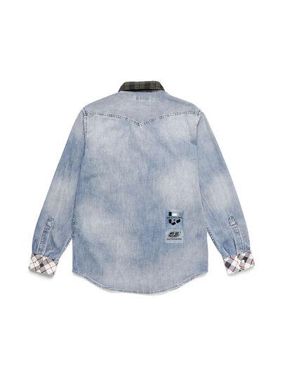 Diesel - D-DEEPCHECK-A, Bleu Clair - Chemises en Denim - Image 2