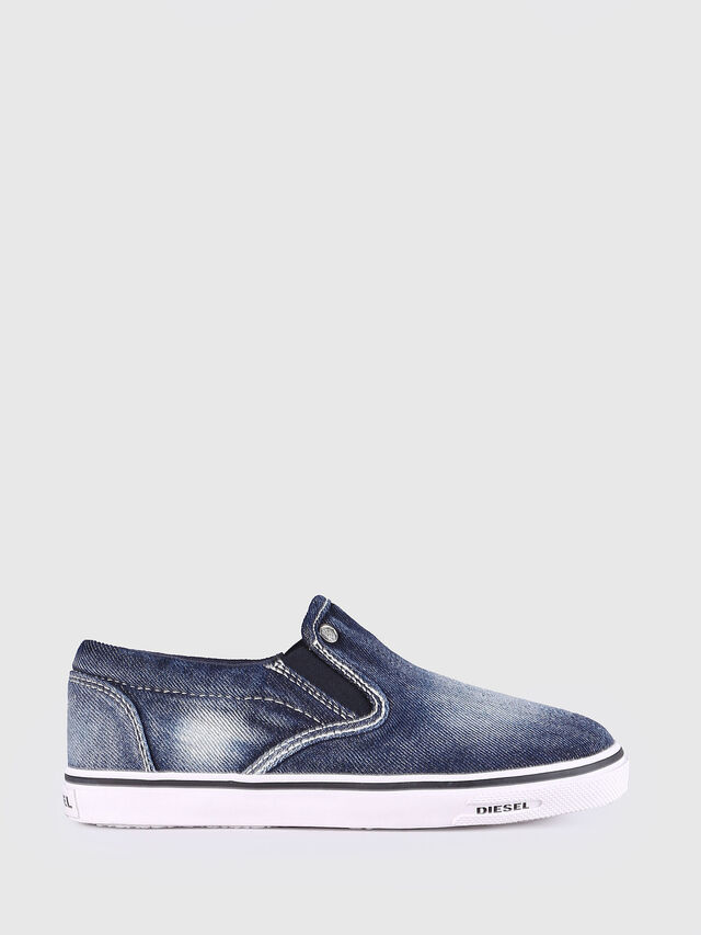 Diesel - SLIP ON 21 DENIM YO, Jean Bleu - Footwear - Image 1