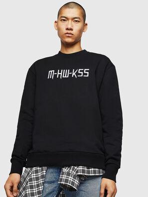 S-LINK-MOHAWK, Noir - Pull Cotton