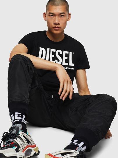 Diesel - T-DIEGO-LOGO, Noir - T-Shirts - Image 5