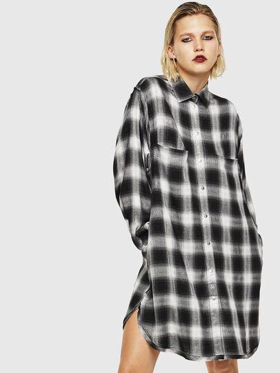 Diesel - D-SUNNY-A, Noir/Blanc - Robes - Image 1