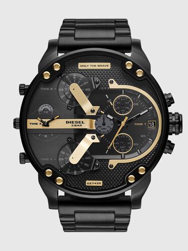 Montre Mr.Daddy 2.0 chronographe en acier inoxydable noir