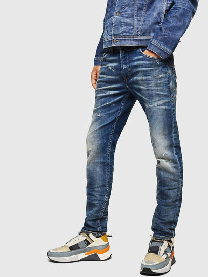 Diesel - Thommer JoggJeans 0870Q, Bleu moyen - Jeans - Image 4