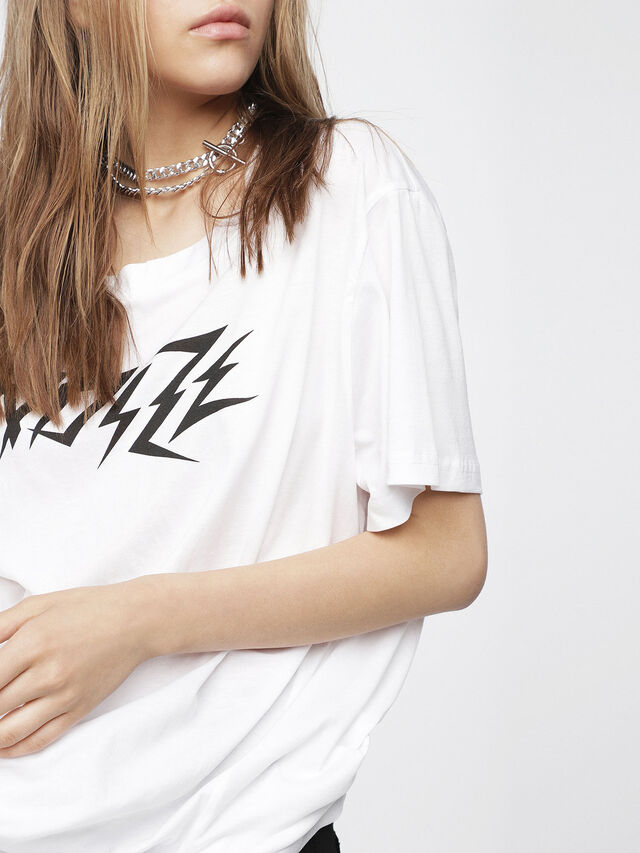 Diesel - T-OVERY-A, Blanc - T-Shirts - Image 3