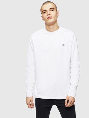 T-JUSTY-LS, Blanc - T-Shirts