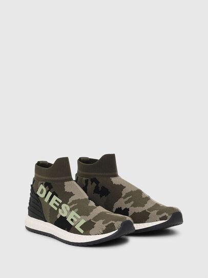 Diesel - SLIP ON 03 LOW SOCK, Vert Camouflage - Footwear - Image 2