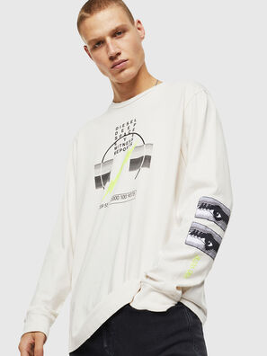 T-JUST-LS-J3, Blanc - T-Shirts