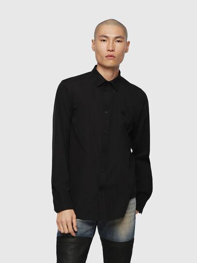 Diesel - S-BILL, Noir - Chemises - Image 1