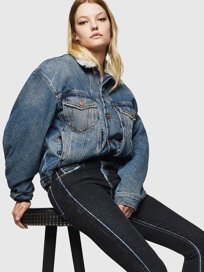 Diesel - Slandy High 0094B, Bleu Foncé - Jeans - Image 4