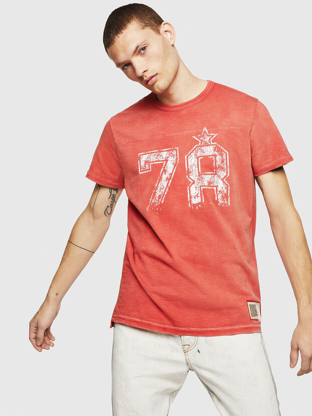 T-DIEGO-CUT-AB, Rouge Flamme - T-Shirts