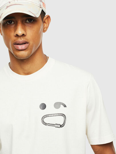 Diesel - T-JUST-T14, Blanc - T-Shirts - Image 3