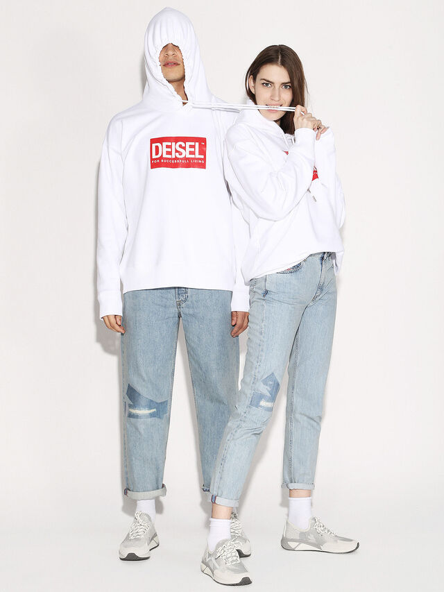 Diesel - DEIS-SHOOD, Blanc - Pull Cotton - Image 4
