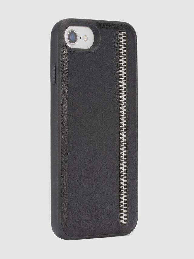 Diesel - ZIP BLACK LEATHER IPHONE 8 PLUS/7 PLUS/6s PLUS/6 PLUS CASE, Noir - Coques - Image 5