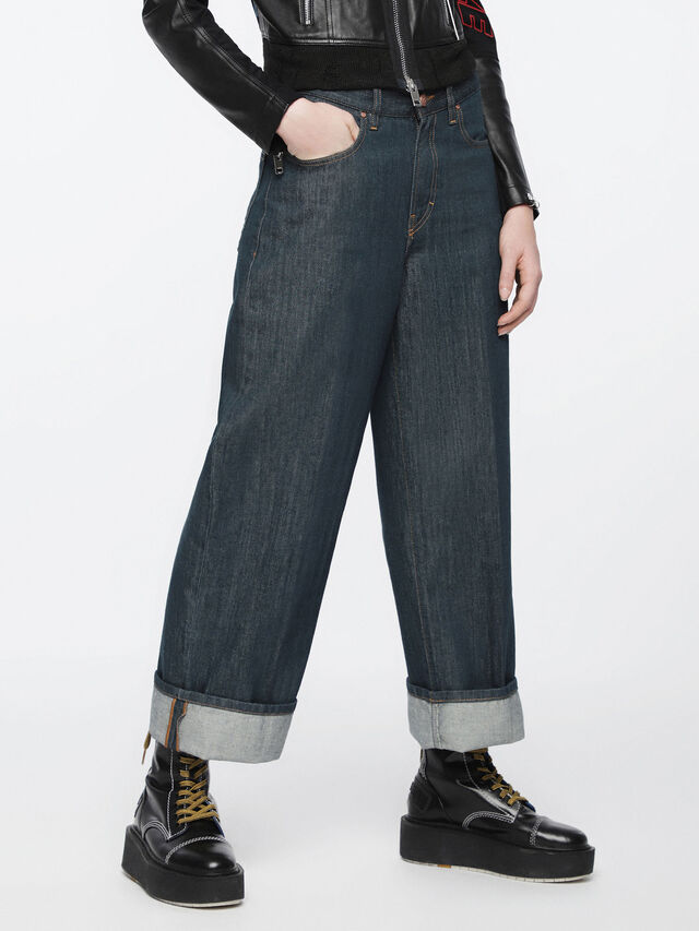 Diesel - Widee 084UR, Bleu Foncé - Jeans - Image 3
