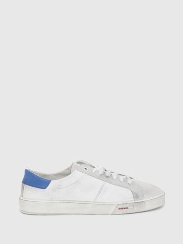 Sneakers basses en cuir poli