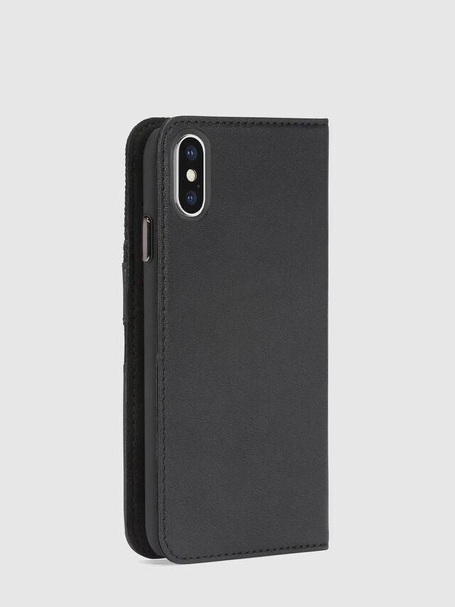 Diesel - BLACK DENIM/STUD/ZIPPER IPHONE X FOLIO, Noir - Coques à rabat - Image 5
