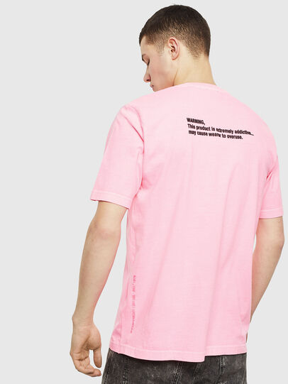 Diesel - T-JUST-NEON, Rose - T-Shirts - Image 3
