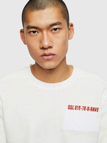 Diesel - K-STLE, Blanc - Pull Maille - Image 3