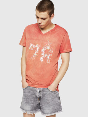 T-DIEGO-V-CUT, Rouge Flamme - T-Shirts