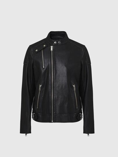 Diesel - L-CODY, Noir - Vestes de cuir - Image 1
