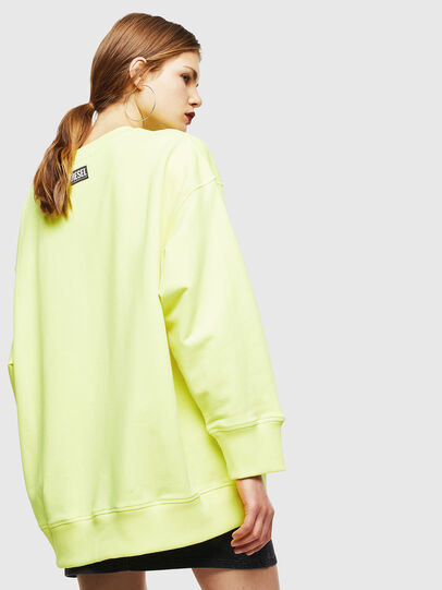Diesel - F-AKUA, Jaune Fluo - Pull Cotton - Image 2