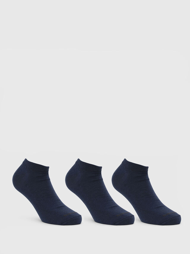 Diesel - SKM-GOST-THREEPACK, Bleu - Chaussettes basses - Image 1