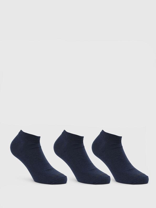 SKM-GOST-THREEPACK, Bleu - Chaussettes basses