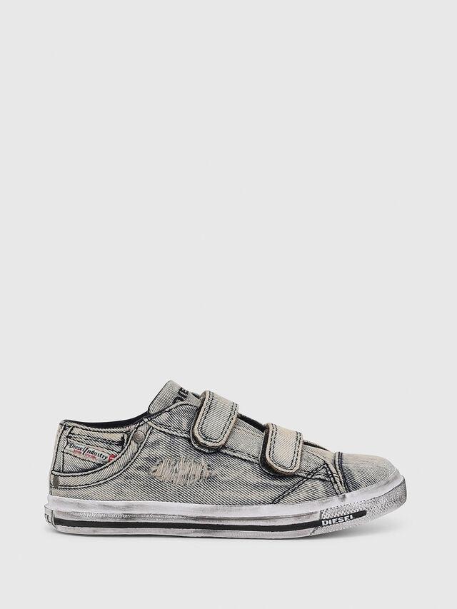 Diesel - SN LOW STRAP 11 DENI, Jean Gris - Footwear - Image 1