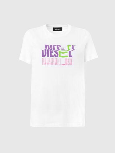 T-shirt en coton avec logo glitch