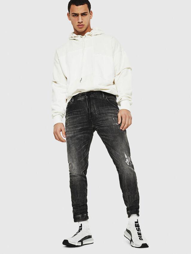 Diesel - Dvl-Krooley JoggJeans 0077S, Noir/Gris foncé - Jeans - Image 5