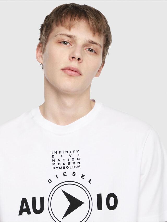 Diesel - T-JUST-Y2, Blanc - T-Shirts - Image 3