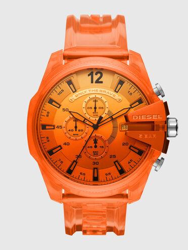 Montre MegaChief chronographe en polyuréthane orange