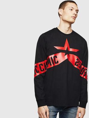 T-JUST-LS-STAR, Noir - T-Shirts