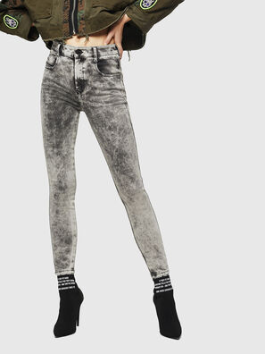 Slandy High 069GQ, Gris Clair - Jeans