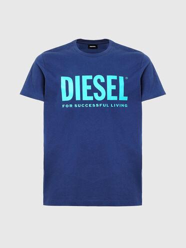 T-shirt à logo en jersey de coton fin