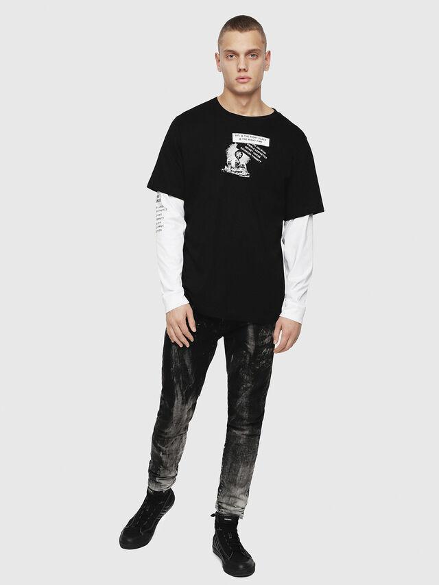 Diesel - T-SHOOT-YA, Noir - T-Shirts - Image 4