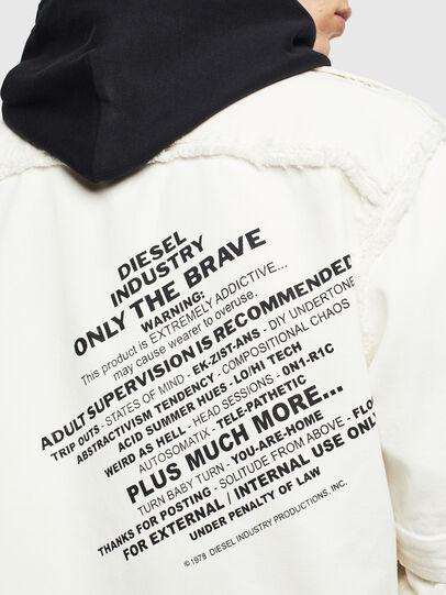 Diesel - D-KURTIS, Blanc - Chemises en Denim - Image 8