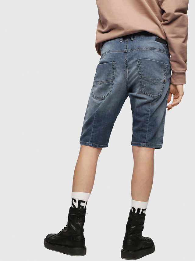 Diesel KROOSHORT JOGGJEANS, Bleu Clair - Shorts - Image 2