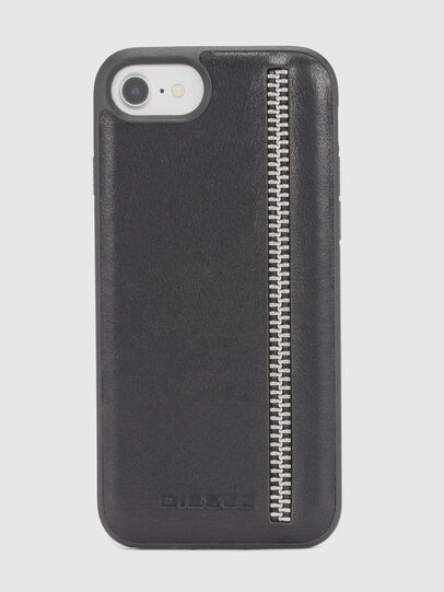 Diesel - ZIP BLACK LEATHER IPHONE 8/7/6s/6 CASE, Noir - Coques - Image 2