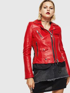 L-CARAMA, Rouge - Vestes de cuir