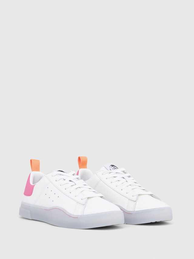 Diesel - S-CLEVER LOW W, Blanc/Rose - Baskets - Image 2