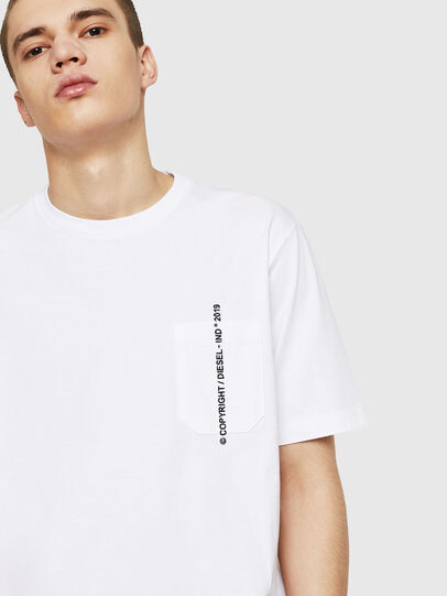 Diesel - T-JUST-POCKET-COPY, Blanc - T-Shirts - Image 4