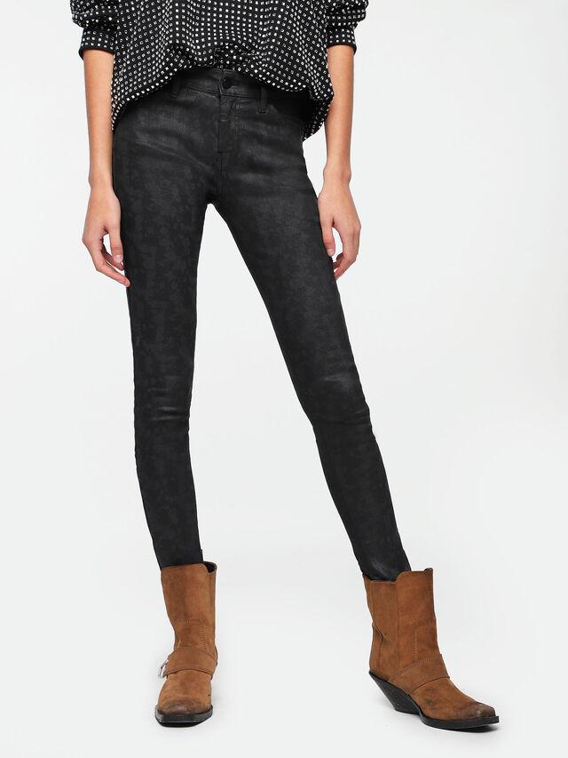 Diesel - Slandy Zip 085AX, Bleu Foncé - Jeans - Image 1