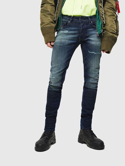 Diesel - Sleenker 0097P, Bleu Foncé - Jeans - Image 1