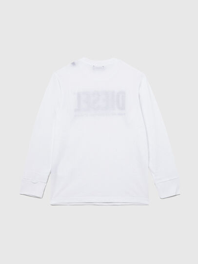 Diesel - TJUSTLOGO ML, Blanc - T-shirts et Hauts - Image 2