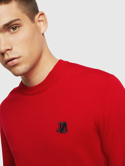 Diesel - K-AMIMI, Rouge - Pull Maille - Image 3