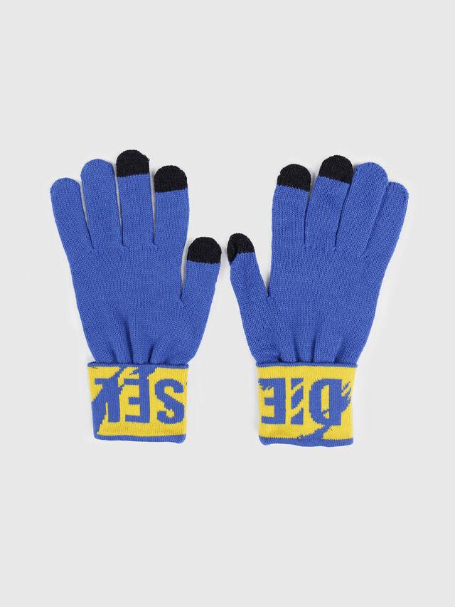 Diesel - K-SCREEX, Bleu/Jaune - Bérets, chapeaux et gants - Image 1