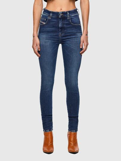 Diesel - Slandy High 009ZX, Bleu Foncé - Jeans - Image 1